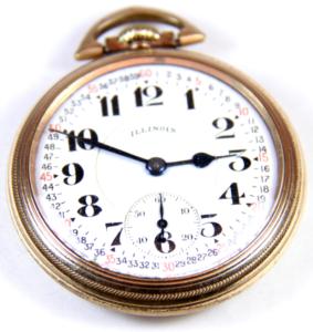 Illinois Pocket Watch 23J Bunn Antique Vintage