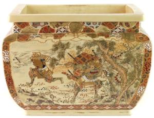 Japanese Samurai Warrior Ceramic Planter