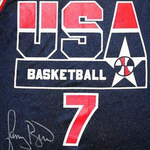 Larry Bird Autographed NBA Dream Team USA Jersey