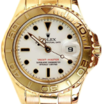 Rolex Yacht-Master 18k Yellow Gold 69628 White Dial Watch