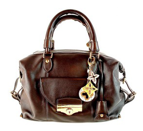 Louis Vuitton VIP 'Sac louis' Special Order Chocolate Lambskin Handbag