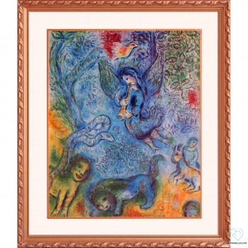 Marc Chagall Magical Flutist Framed Lithograph Limited Edition