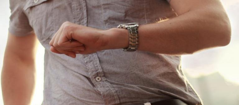 Man wearing luxury watch