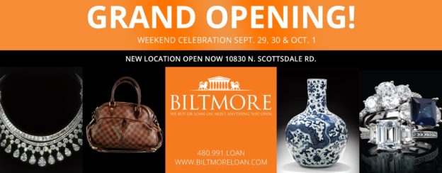 Biltmore Loan and Jewelry Grand Opening Banner