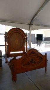 antique bedframe