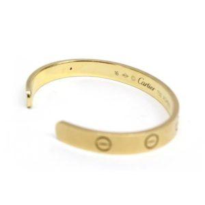 Cartier 18k Yellow Gold Love Bracelet Bangle Cuff Size 16 image 3