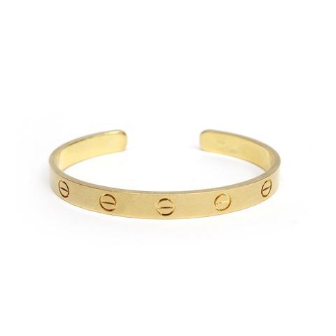 Cartier 18k Yellow Gold Love Bracelet Bangle Cuff Size 16
