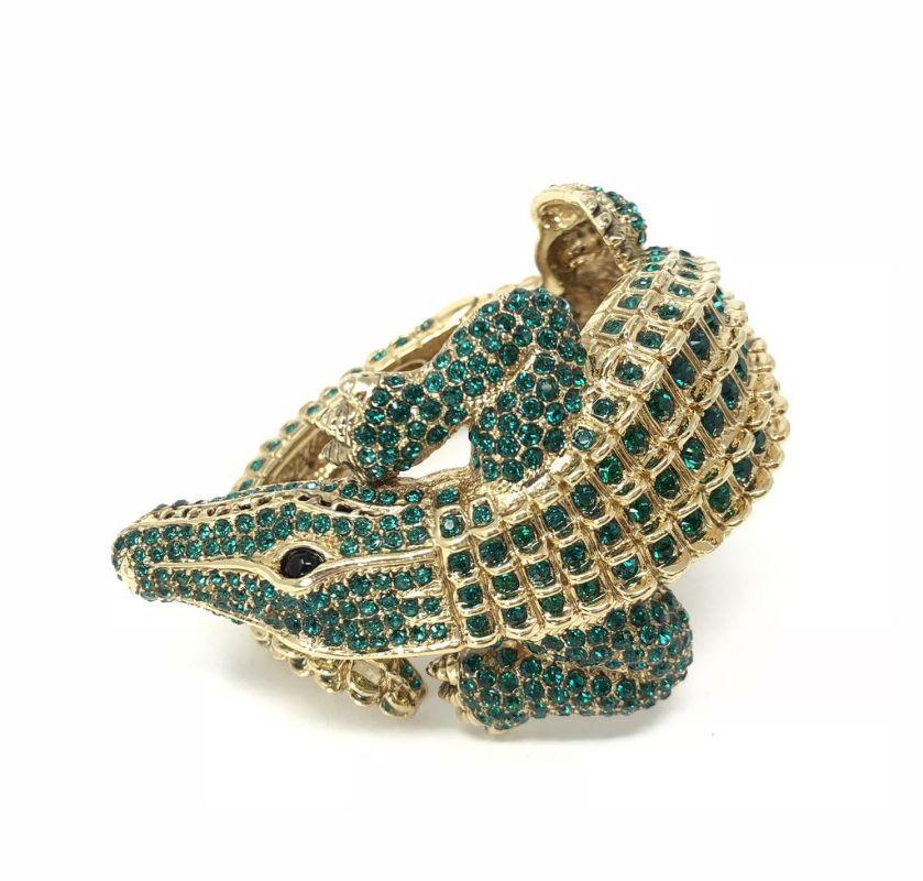 roberto-cavalli-alligator-swarovski-crystal-cuff-bracelet