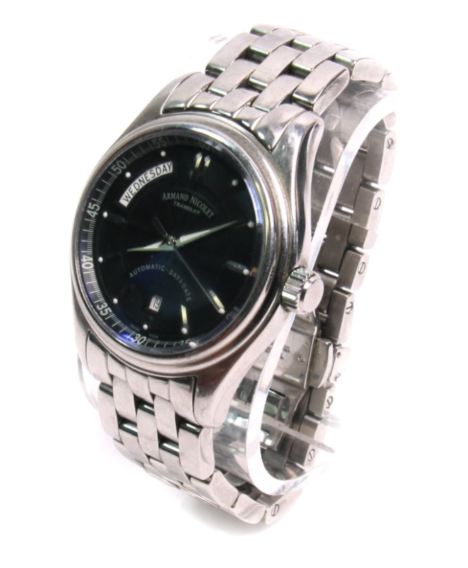 Armand Nicolet Stainless Blue Dial Watch