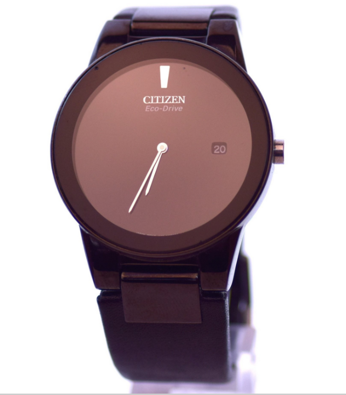 Black Citizen Eco-Drive Adjustable Length Strap Axiom Leather Jewelry Watch