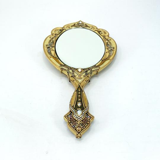RARE Jay Strongwater Arabesque Large Vanity Hand-held Mirror