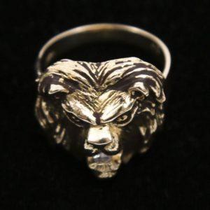 Lion head luxury ring