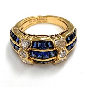 Van Cleef & Arpels 18K Yellow Gold 3.0ctw Sapphire & .80ctw Diamond Ring
