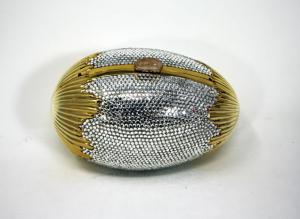 Judith Leiber crystal egg minaudiere bag