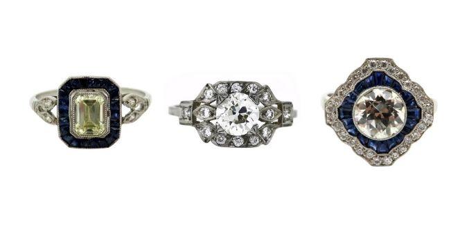 Art Deco luxury rings
